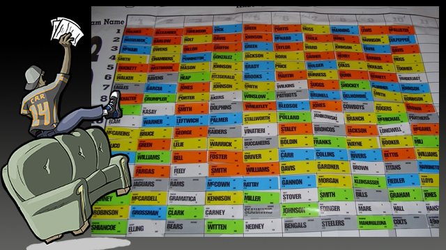 Fantasy Football Draft Board -Dupont-Flickr