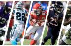 Rookie Rb Grades. Photos by Jonathan Daniel, Michael Zagaris, Matthew Lewis, Sean M. Haffey, and Hannah Foslien