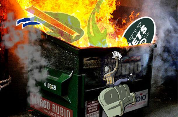 AFC EAST Dumpster fire